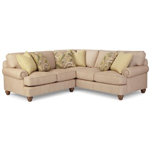 Paula Deen by Craftmaster P9 Custom Upholstery Customizable 2 Pc Sectional Sofa w/ LAF Love