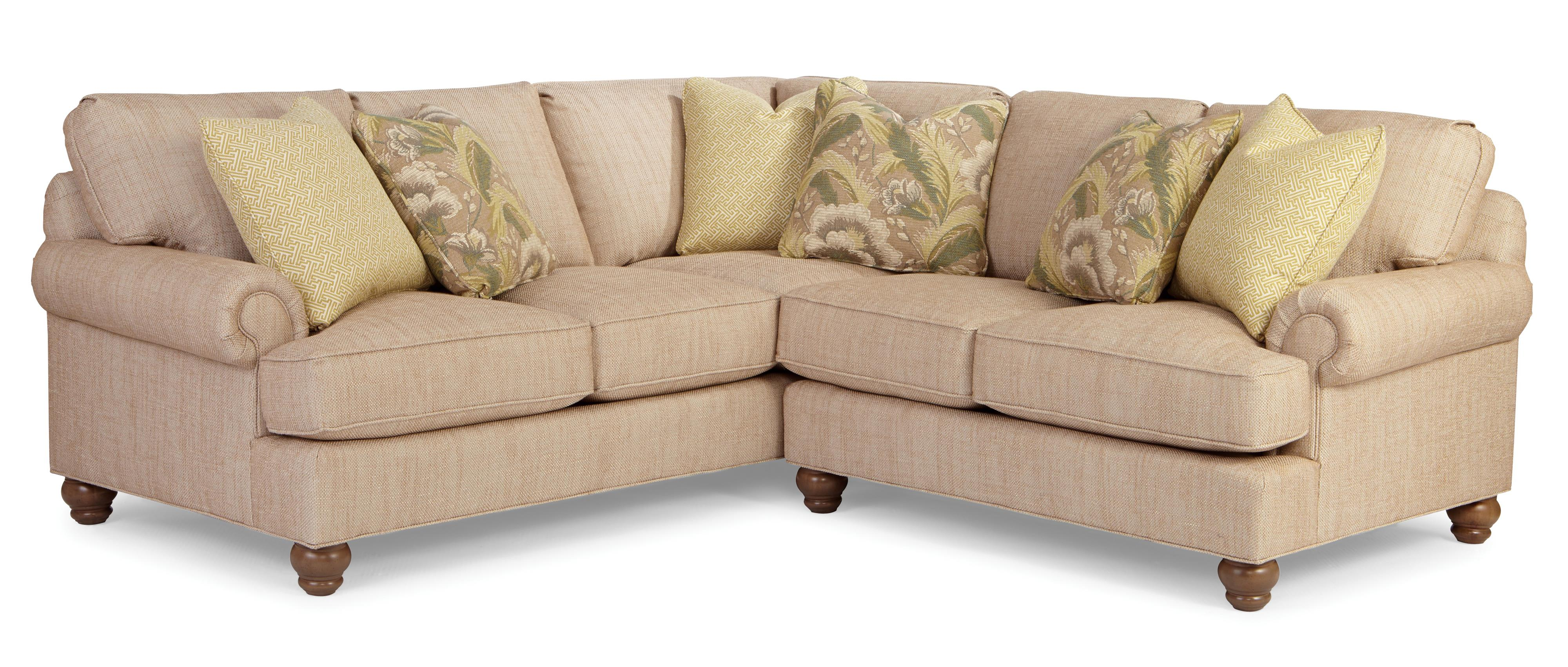 P9 Custom Upholstery Customizable 2 Pc Sectional Sofa w/ RAF Love by Paula Deen by Craftmaster at Powell's Furniture and Mattress