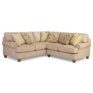 Paula Deen by Craftmaster P9 Custom Upholstery Customizable 2 Pc Sectional Sofa w/ RAF Love