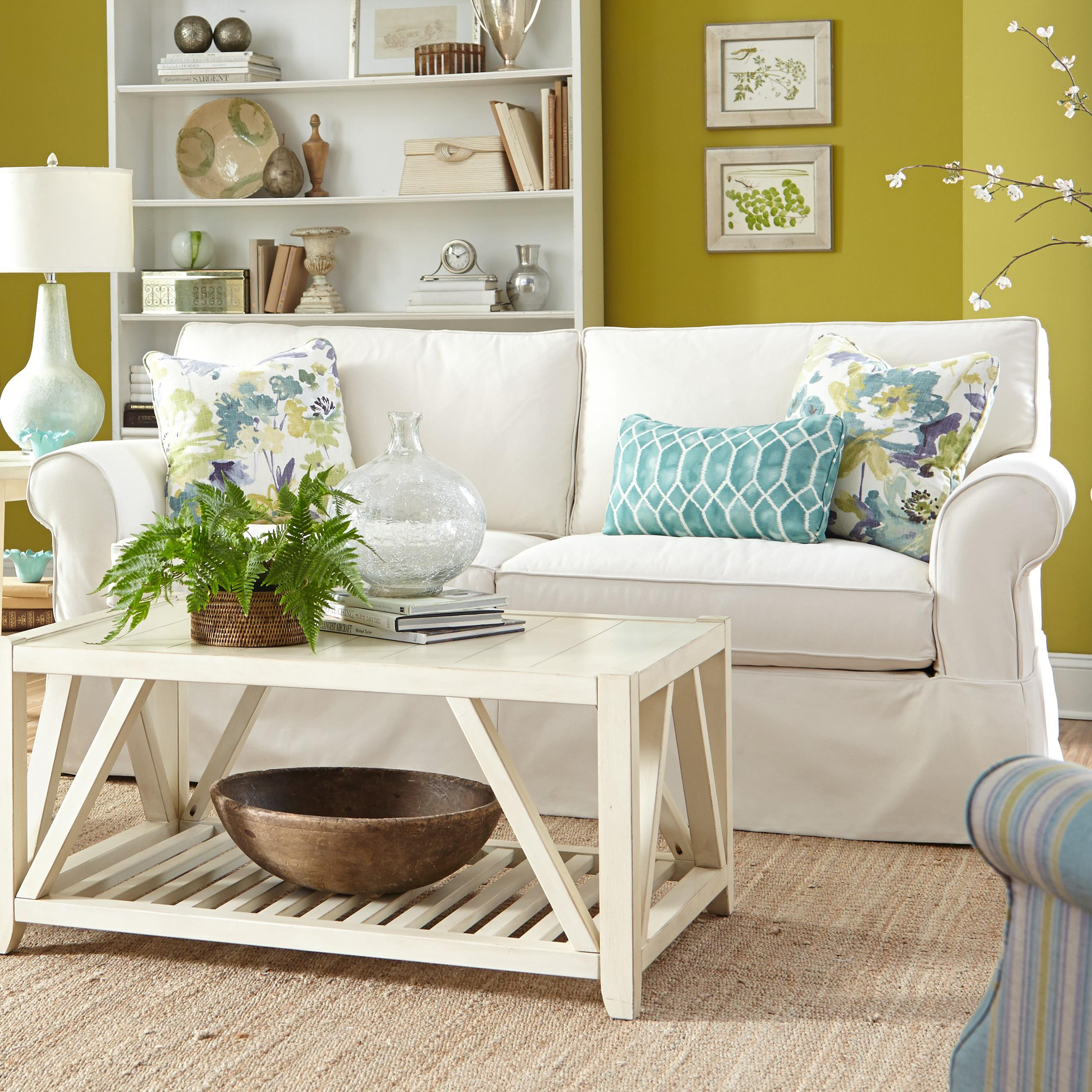 Paula Deen By Craftmaster P928500 Slipcover Sofa With