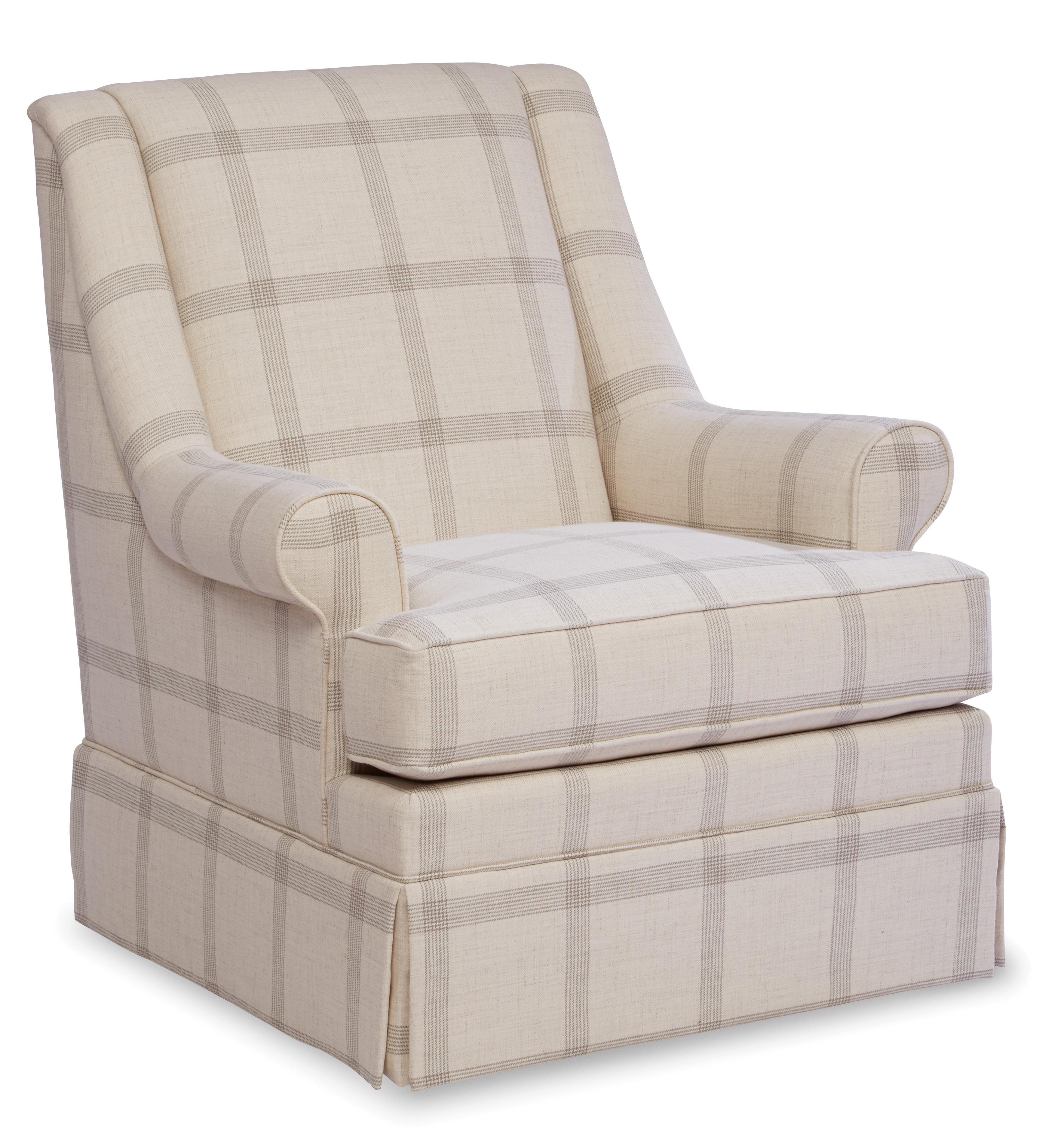 Skirted Swivel Chair