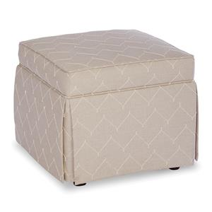 Paula Deen by Craftmaster Paula Deen Upholstered Accents Skirted Accent Ottoman