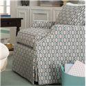 Paula Deen by Craftmaster Paula Deen Upholstered Accents Skirted Swivel Chair - Item Number: P054710BDSC-MOD CRAZE-21
