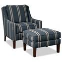 Paula Deen by Craftmaster Paula Deen Upholstered Accents Chair and Ottoman Set - Item Number: P080810BD+00BD-Coba-23