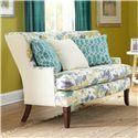 Paula Deen by Craftmaster Paula Deen Upholstered Accents Settee - Item Number: P095030BD-KEEPSAKE+WILDFLOWER