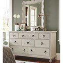 Paula Deen by Universal Cottage Dresser and Mirror - Item Number: 795040+04M