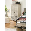 Paula Deen by Universal Bungalow Cottage Wardrobe with Clothing Rod