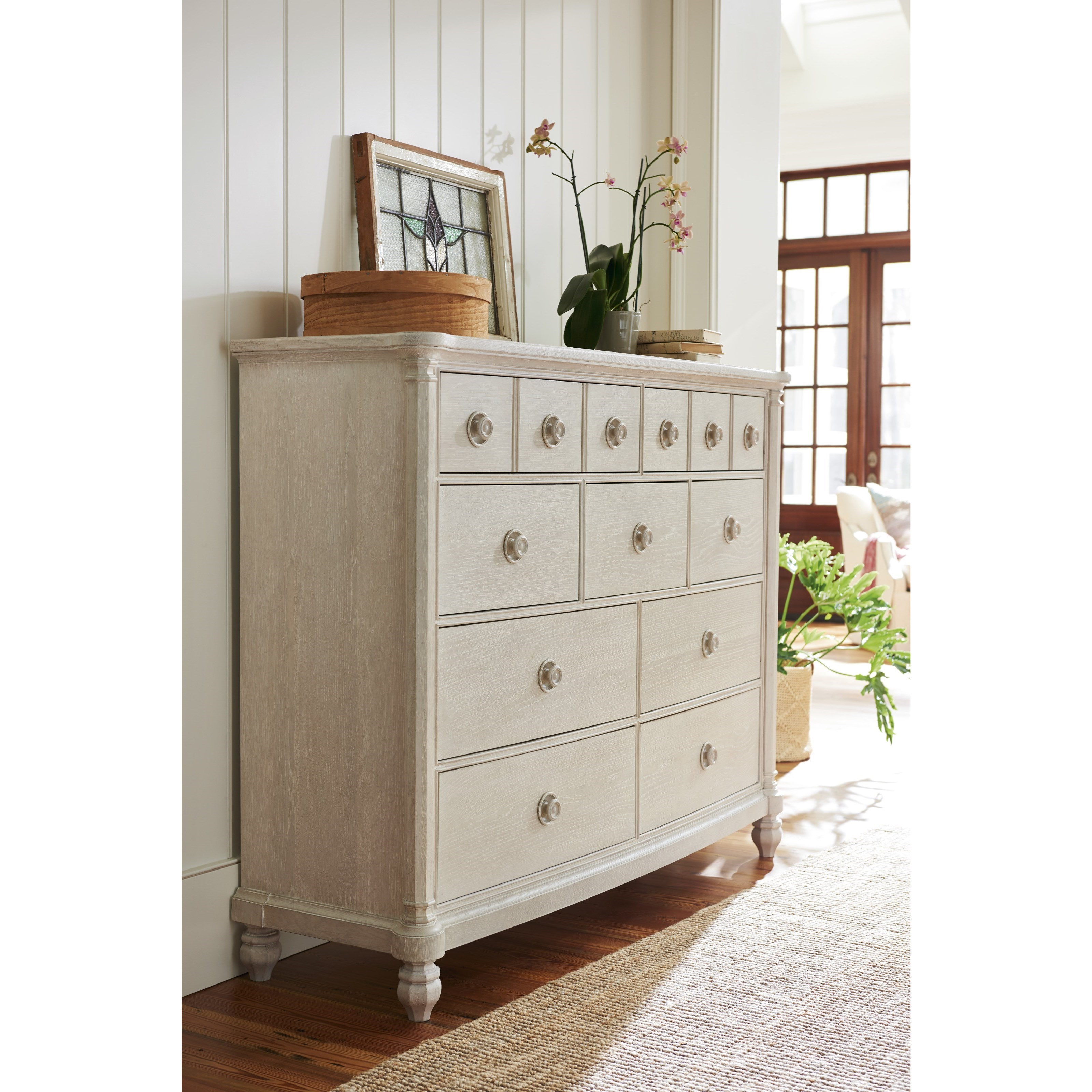 Paula Deen By Universal Bungalow 795180 Cottage Nine Drawer Dressing Chest With Jewelry Tray
