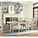 Paula Deen by Universal Cottage Seven Piece Dining Set - Item Number: 795653+2x637+4x636-RTA