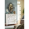 Paula Deen by Universal Bungalow Cottage Six Drawer Chest with Cedar Lined Bottom Drawer