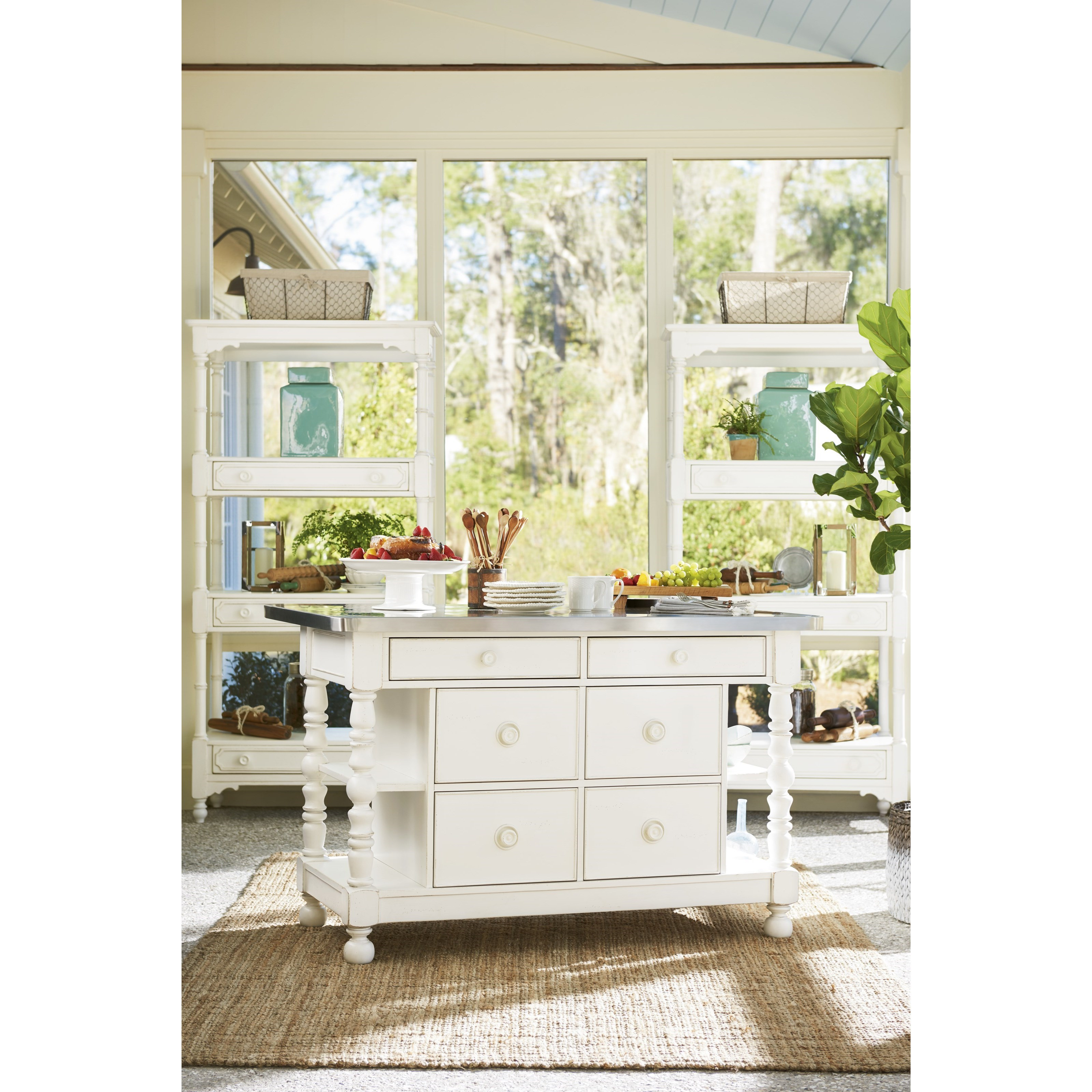 Paula Deen By Universal Bungalow Cottage Kitchen Island