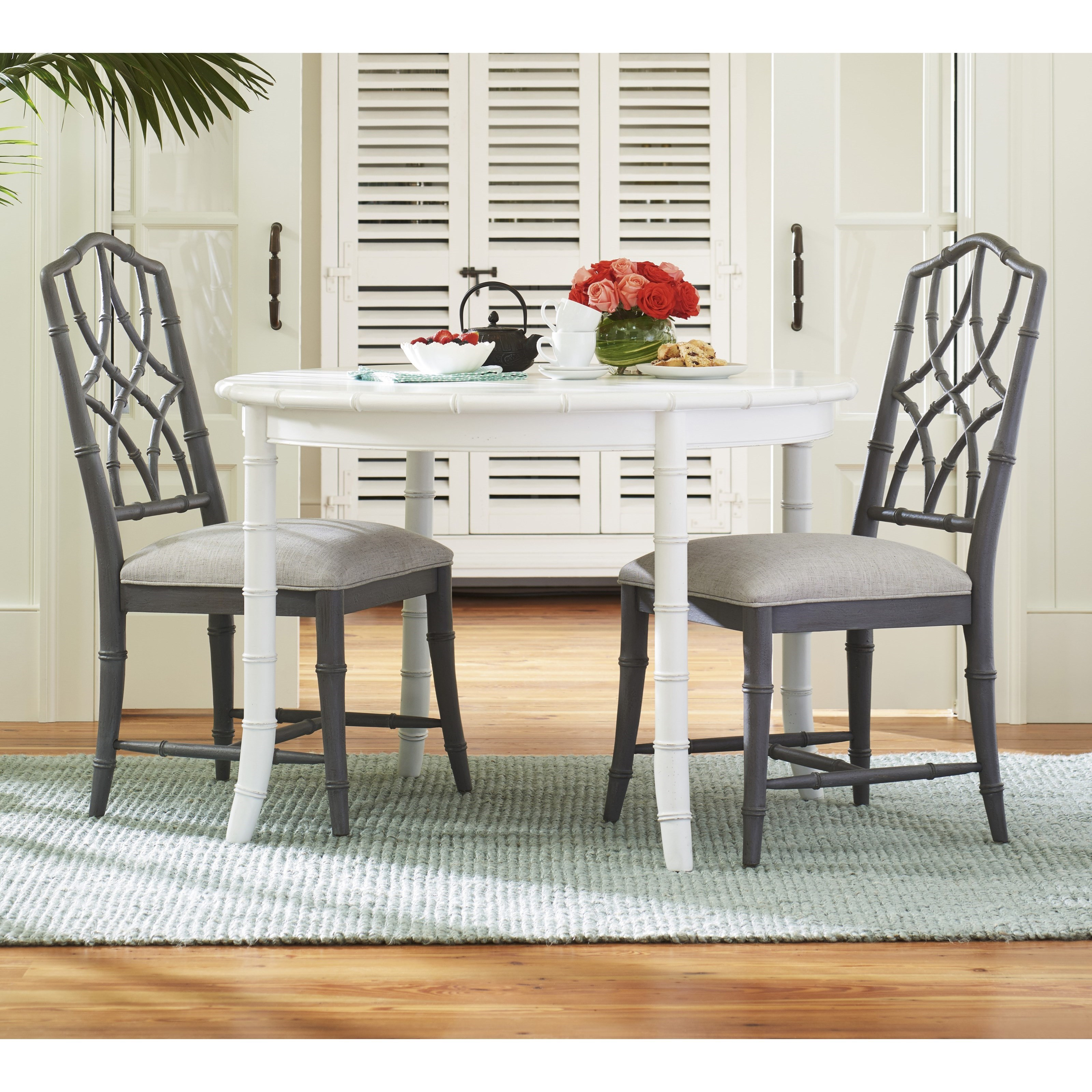 Bungalow Three Piece Cottage Dining Set With Bamboo Inspired Framing By Paula Deen Universal