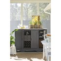 Paula Deen by Universal Bungalow Cottage Credenza with Wine Bottle Storage