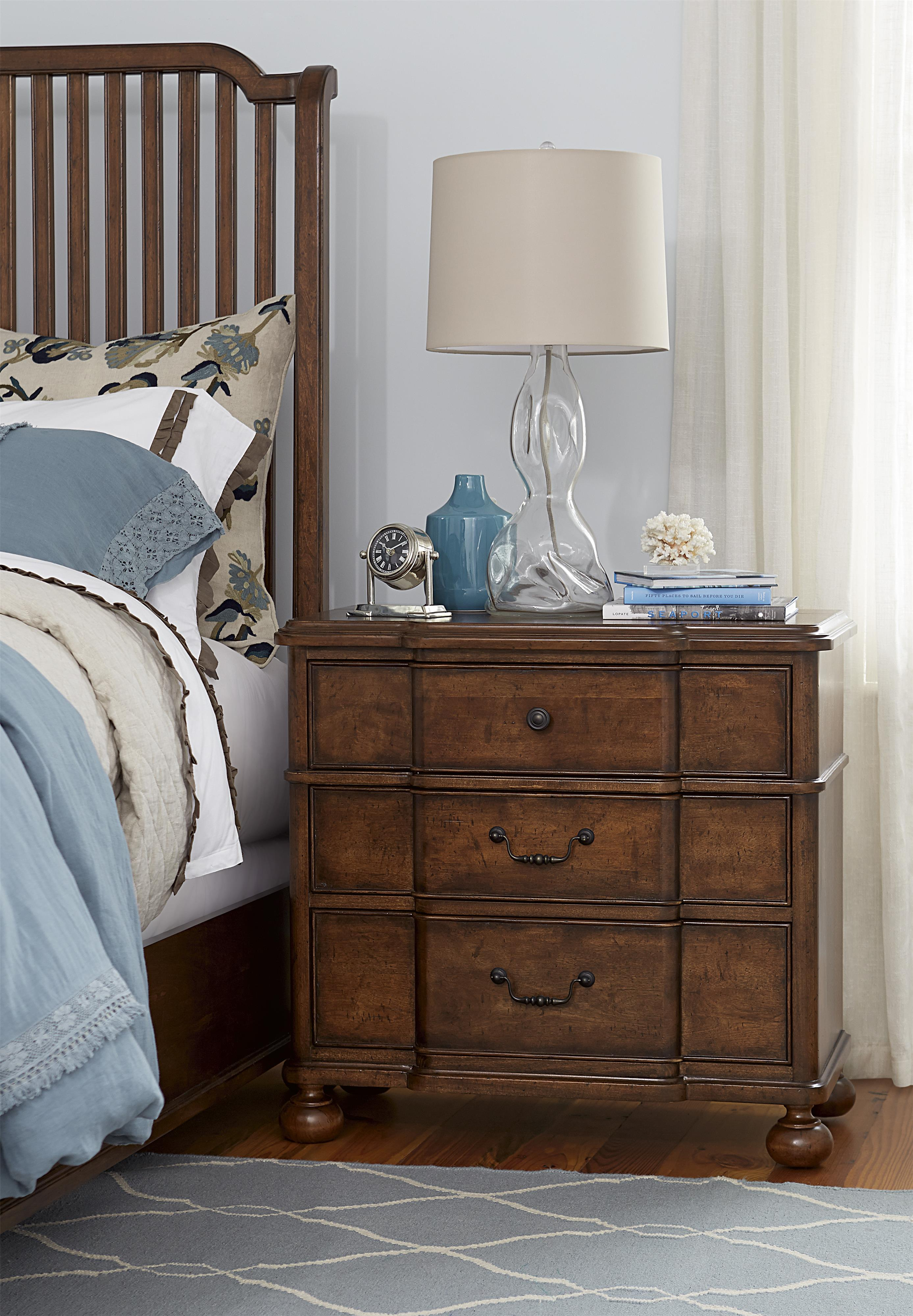 Paula Deen By Universal Dogwood Nightstand With Outlet Fashion Furniture Night Stands