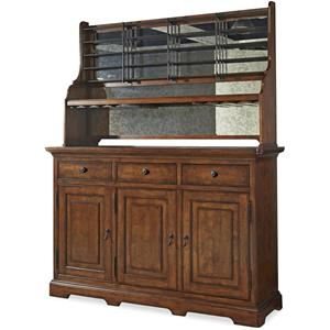 Universal Dogwood Credenza with Wine Rack