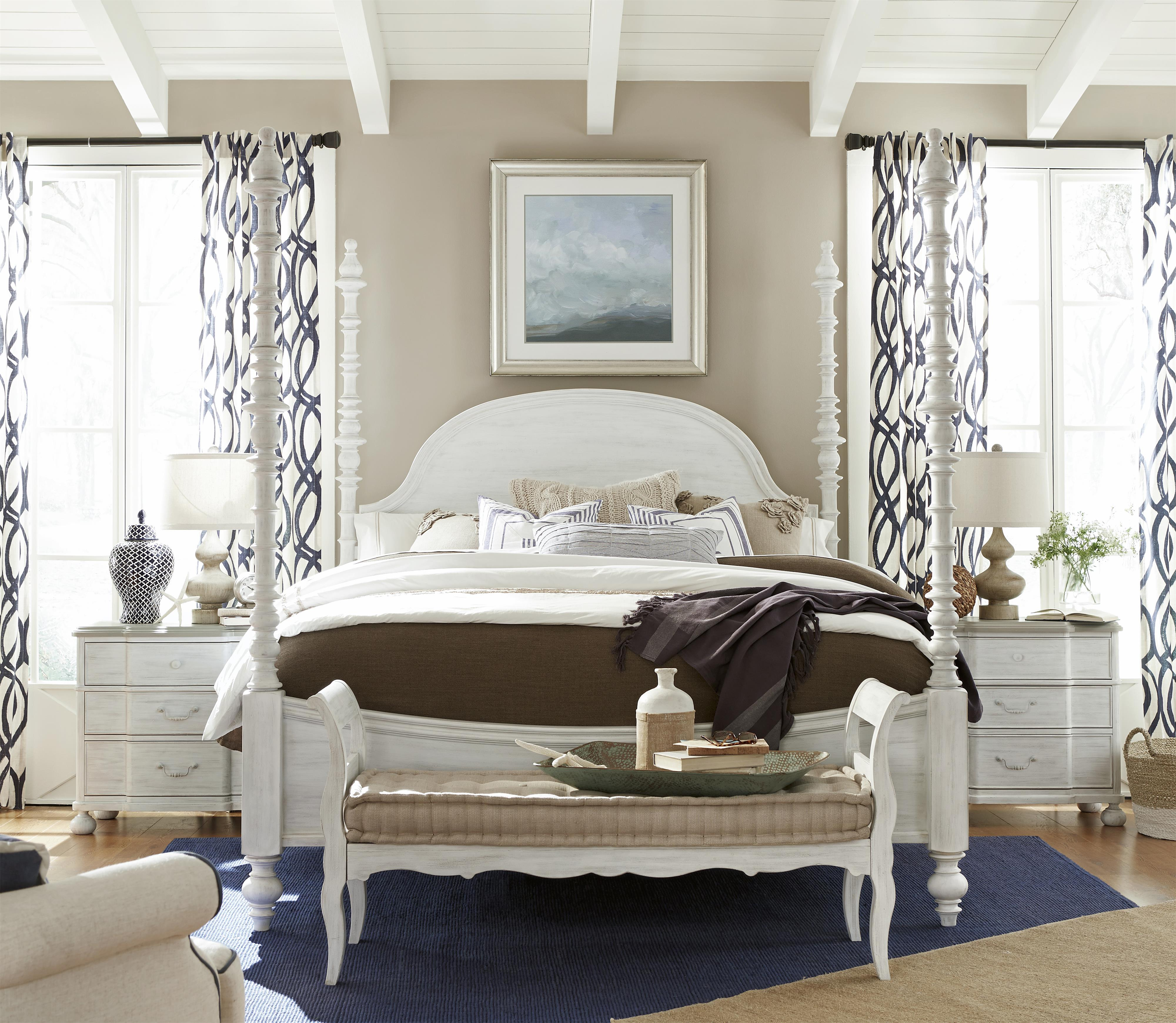 Paula Deen by Universal Dogwood King Bedroom Group - Item Number: 597 K Bedroom Group 1