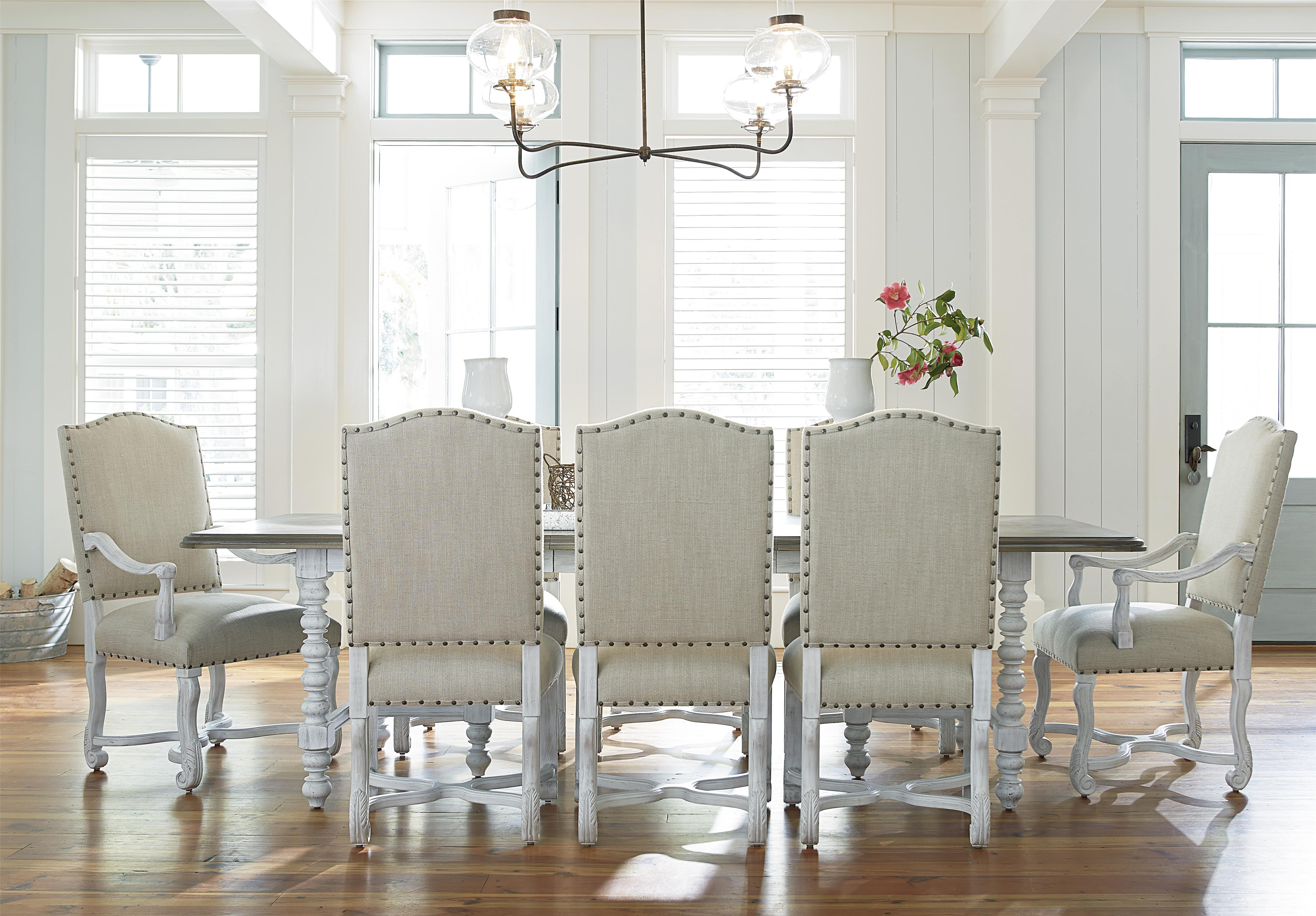 Universal Dogwood 9 Piece Dining Set - Item Number: 597A655+2x39-RTA+6x38-RTA