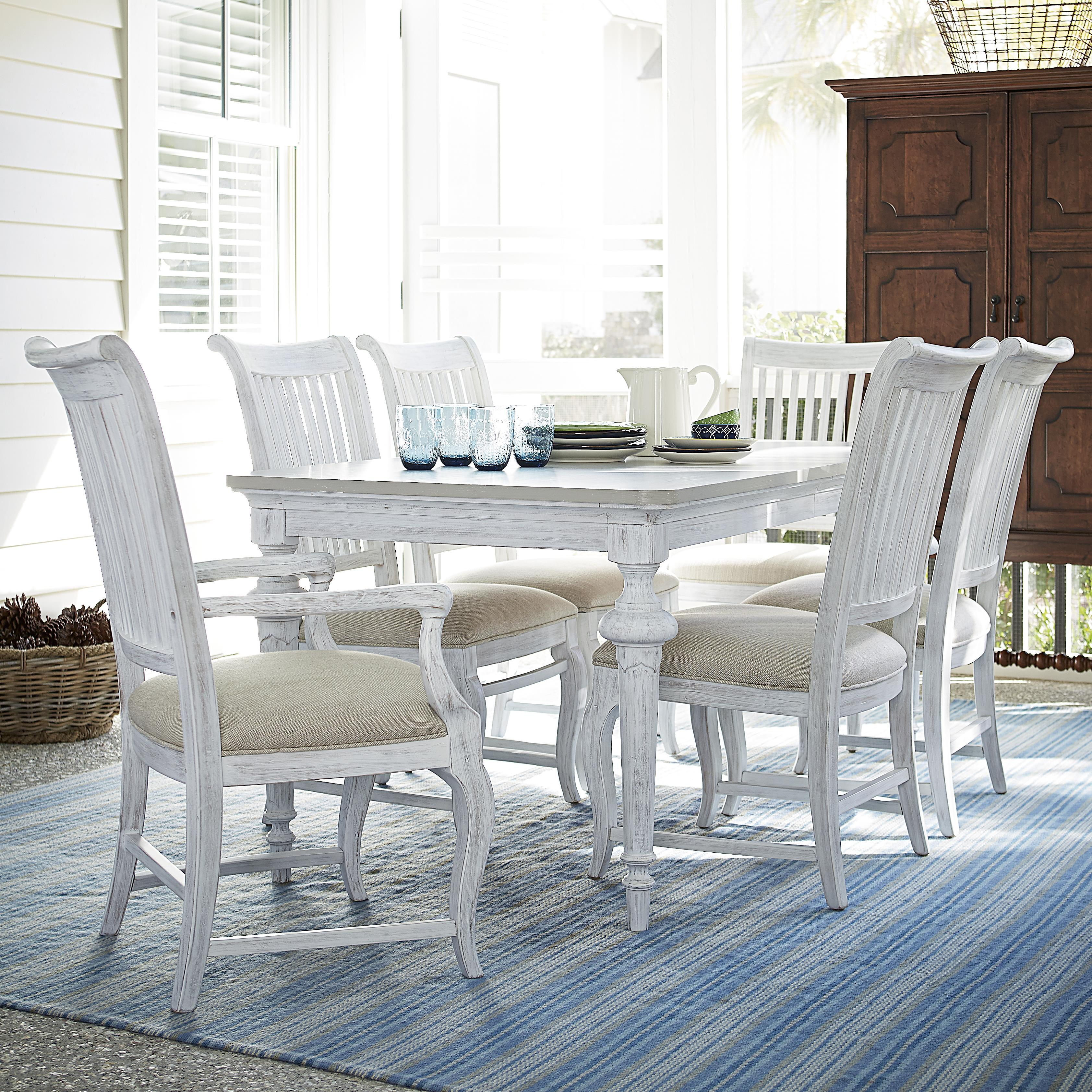 Paula Deen by Universal Dogwood 7 Piece Dining Set - Item Number: 597B653+2x35-RTA+4x34-RTA