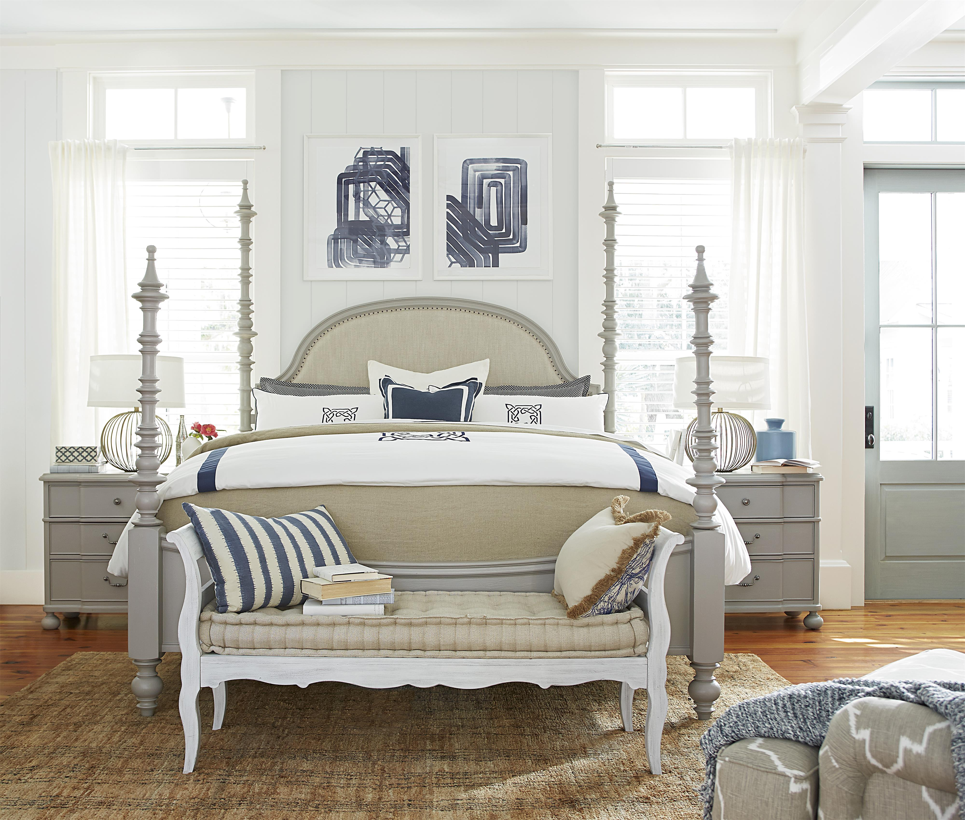 Paula Deen by Universal Dogwood King Bedroom Group - Item Number: 599 K Bedroom Group 1