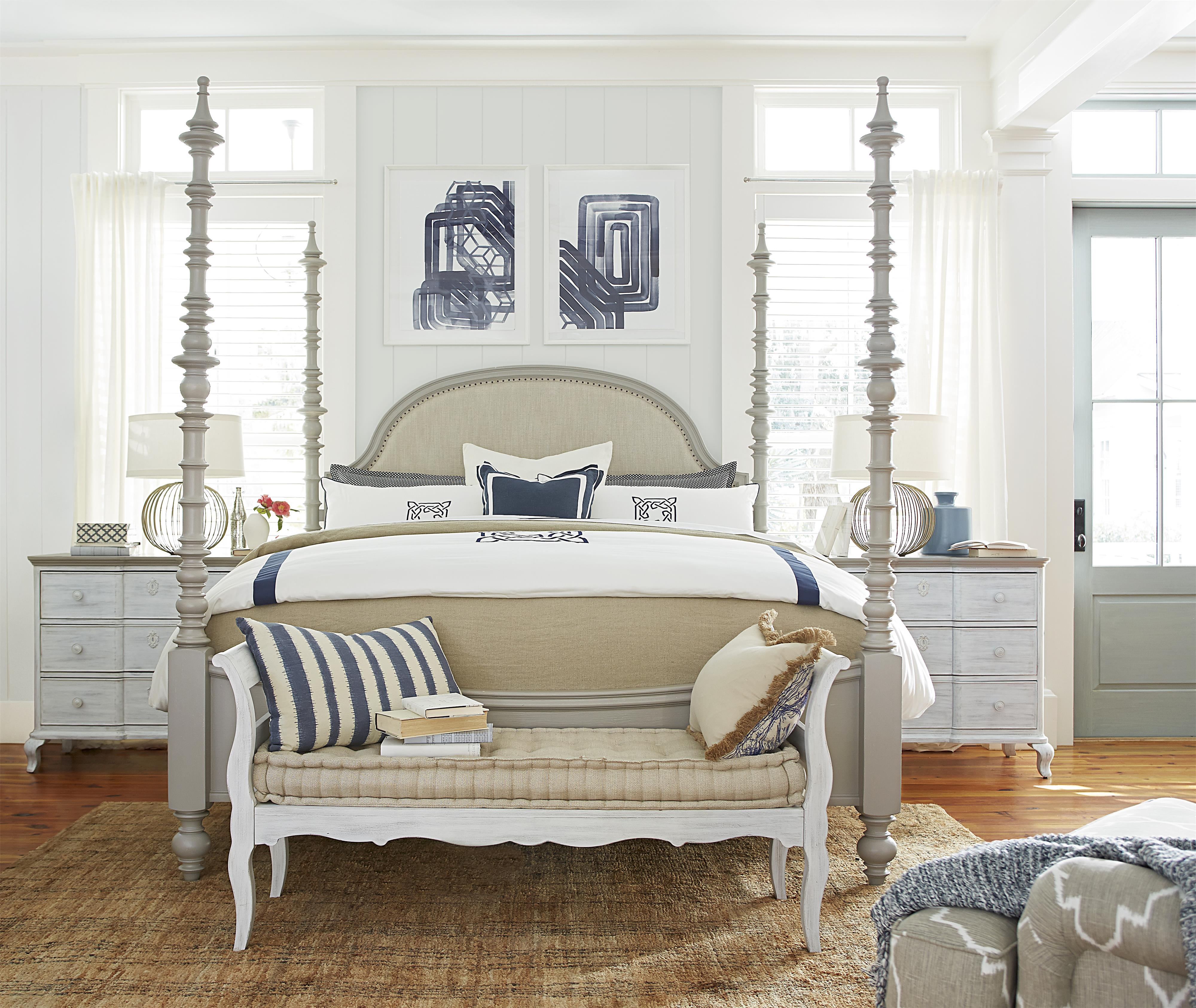 Paula Deen by Universal Dogwood Queen Bedroom Group - Item Number: 599 Q Bedroom Group 3