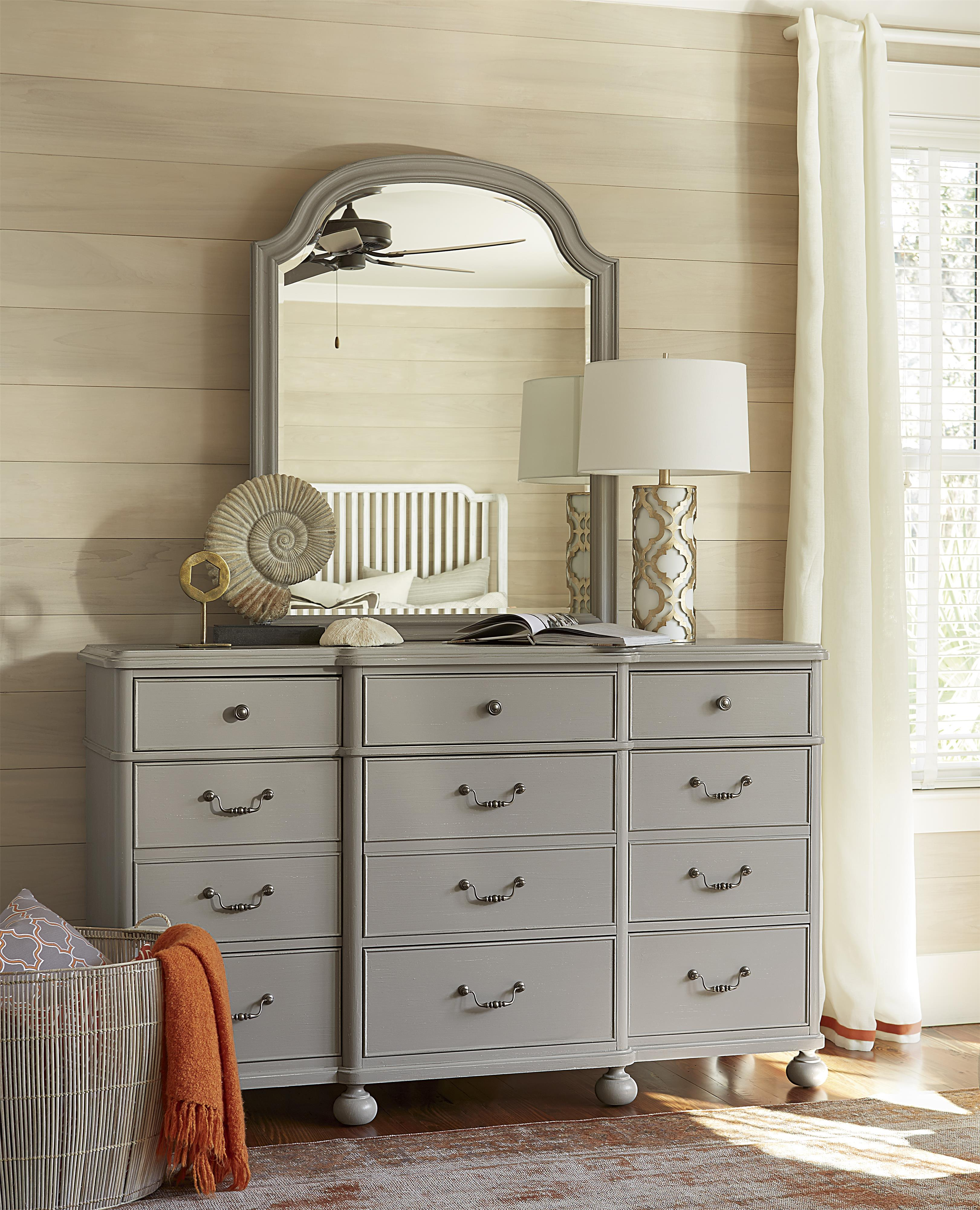 Paula Deen By Universal Dogwood 59904m Mirror With Arched Top Baer 39 S Furniture Dresser Mirrors