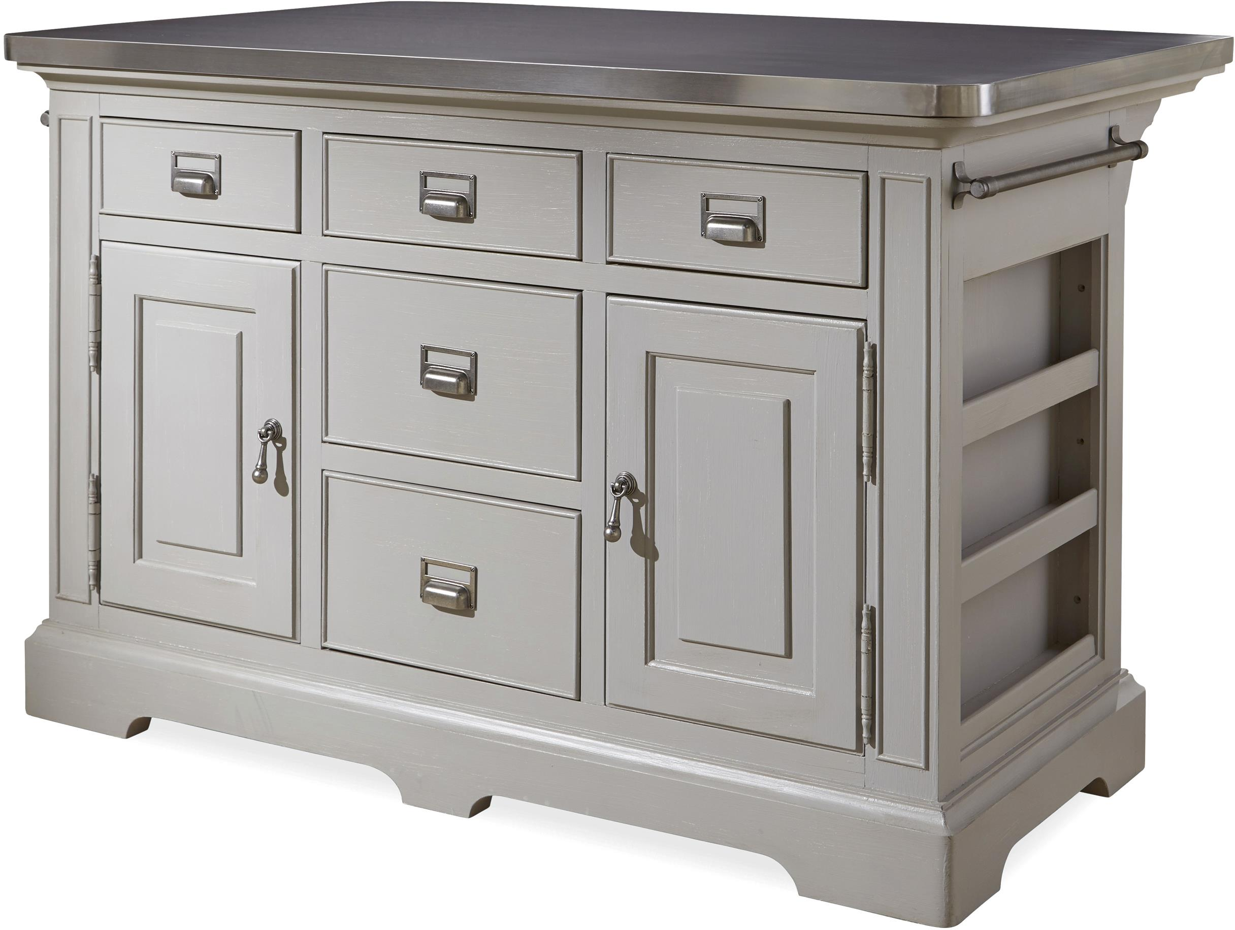 steel top kitchen island paula deen the kitchen island with stainless 22186
