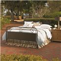 Paula Deen by Universal Down Home King Garden Gate Bed - Shown with Nightstand