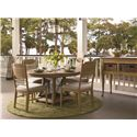 Universal Down Home Side Chair with Panel Back - Shown with Down Home Gathering Table and Sideboard with Baskets