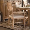 Universal Down Home Arm Chair with Panel Back