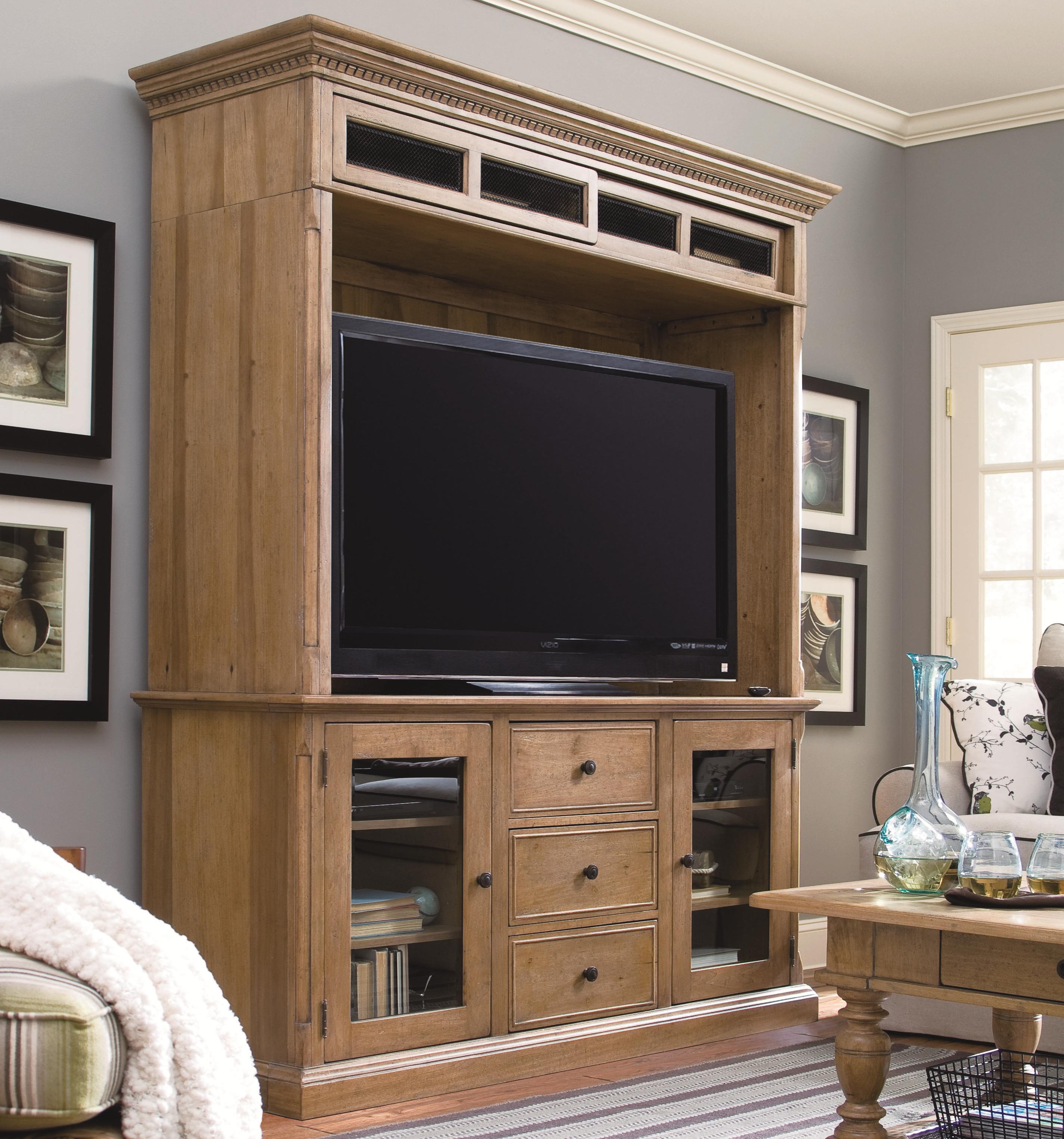 Paula Deen by Universal Down Home Entertainment Console and Bridge - Item Number: 192966+965