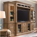 Universal Down Home Entertainment Console and Bridge - Shown with Right and Left Bookcases
