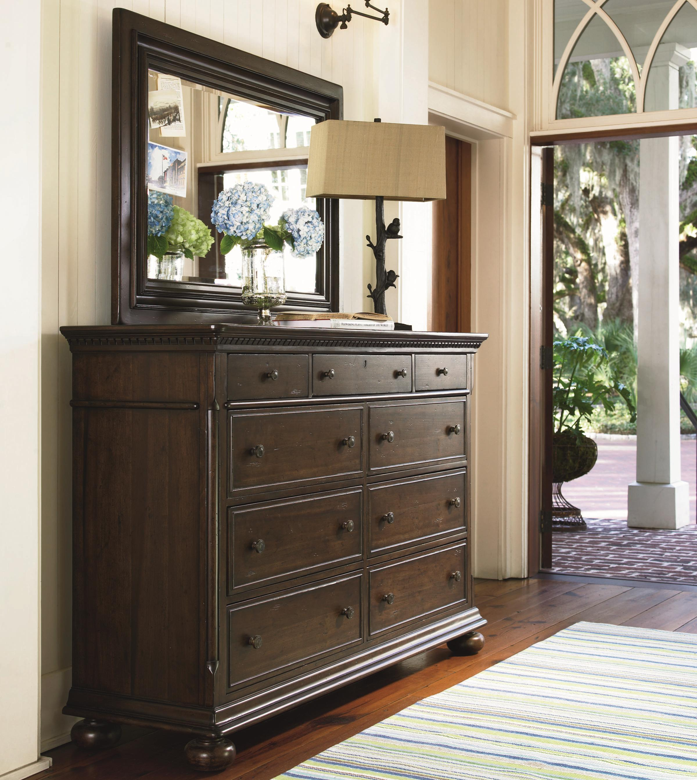 Paula Deen by Universal Down Home Dresser and Mirror Combo - Item Number: 193040+M
