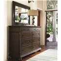 Morris Home Furnishings Pine Bluff Dresser and Mirror Combo - Item Number: 193040+M