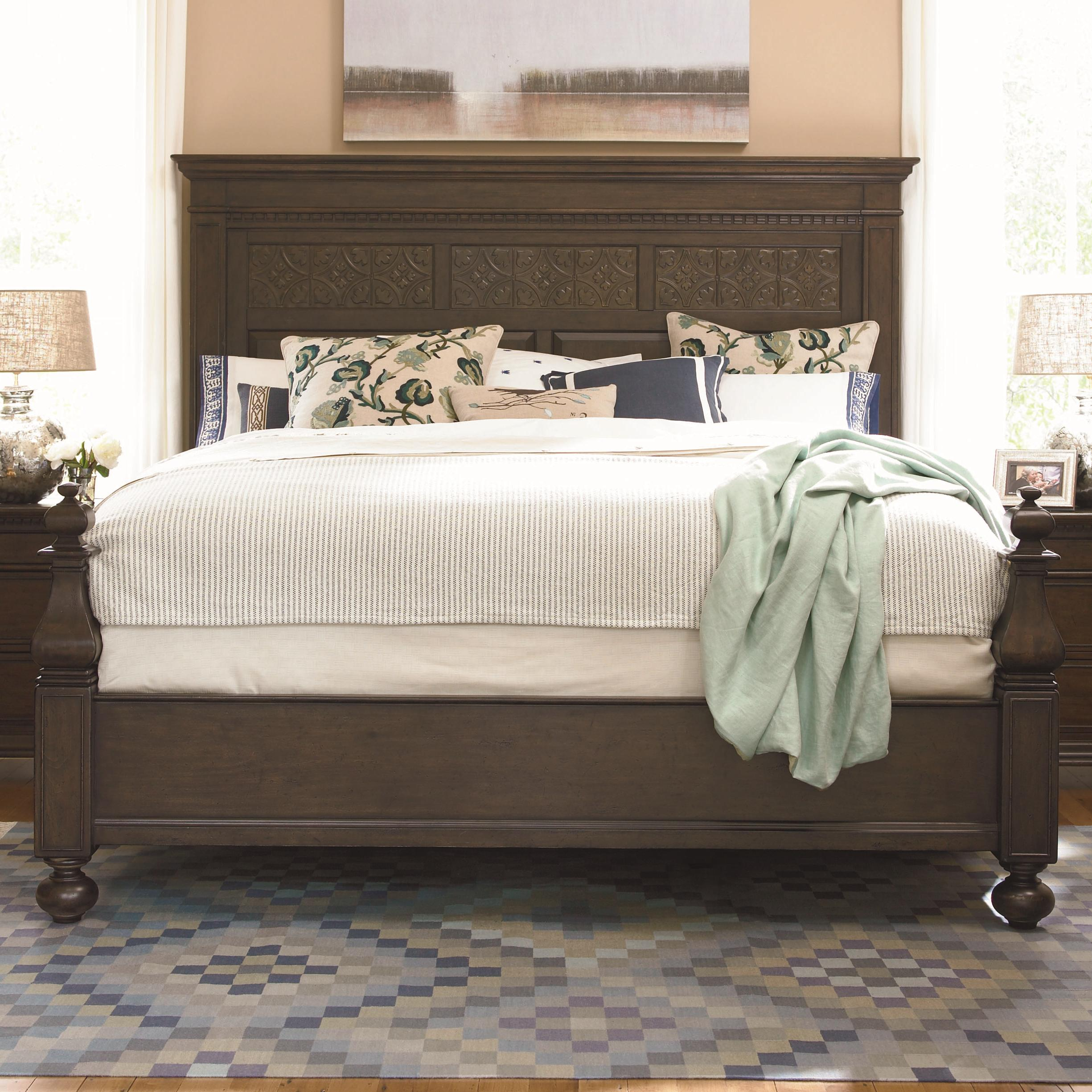 Paula Deen by Universal Down Home Queen Aunt Peggy's Bed - Item Number: 193250+F+R