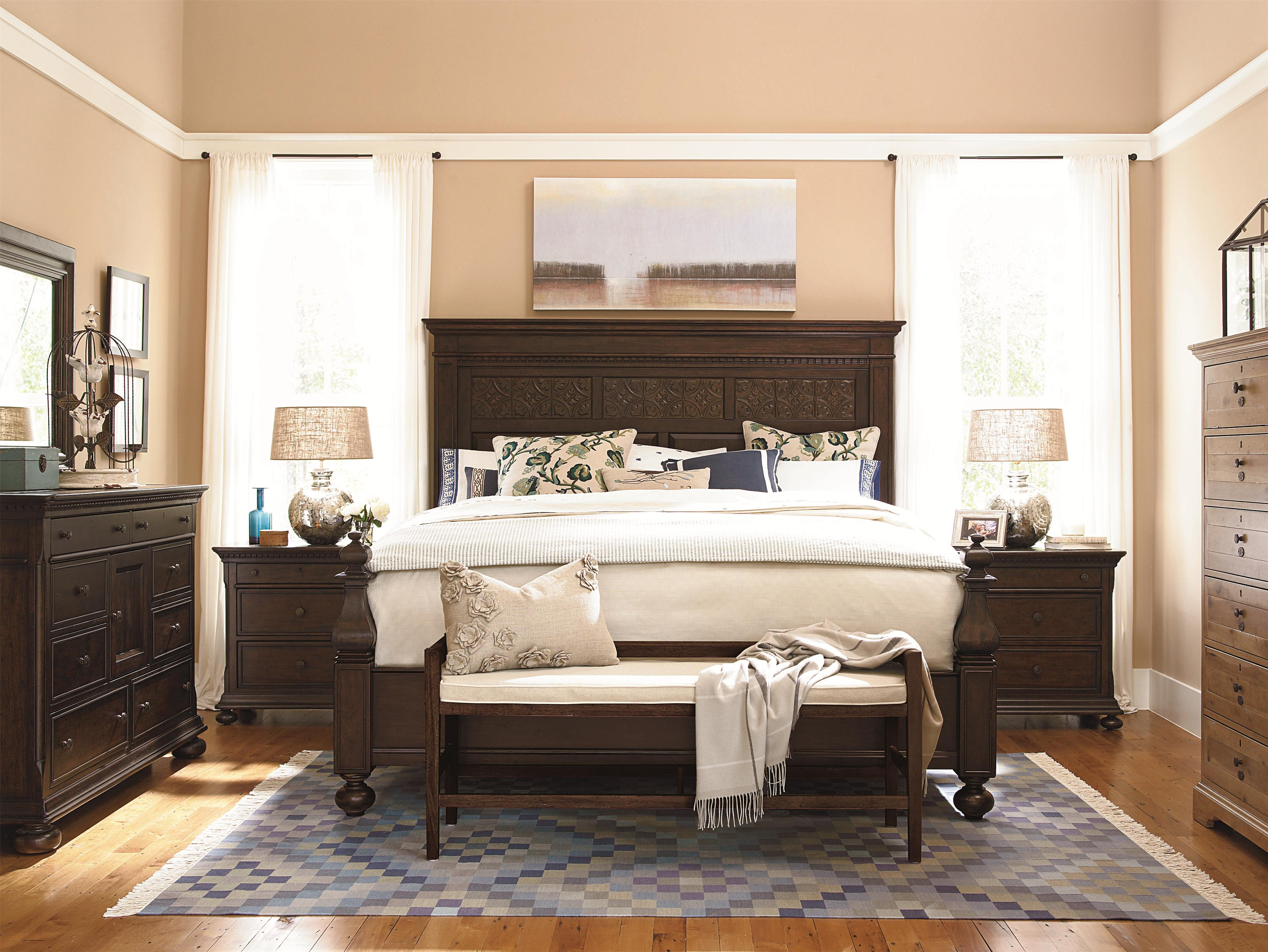 Paula Deen By Universal Down Home Queen Aunt Peggy 39 S Bed With Headboard And Footboard Zak 39 S