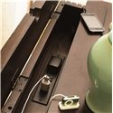 Universal Down Home 3-Drawer Nightstand - Detail of the Lift-Lid Top with Power Outlet Exposure