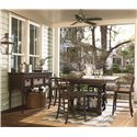 Paula Deen by Universal Down Home Corrie's Counter Chair - 193609-RTA - Shown with Down Home Gathering Table with Sideboard and Baskets