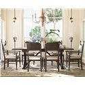 Paula Deen by Universal Down Home Family-Style Table w/ Side and Arm Chairs - Item Number: 193655+2x625+4x624