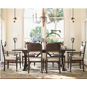 Universal Down Home 5 Pc Family-Style Table w/ Side Chairs