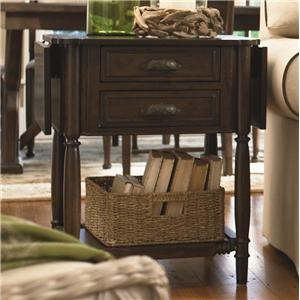 Universal Down Home Drop Leaf End Table