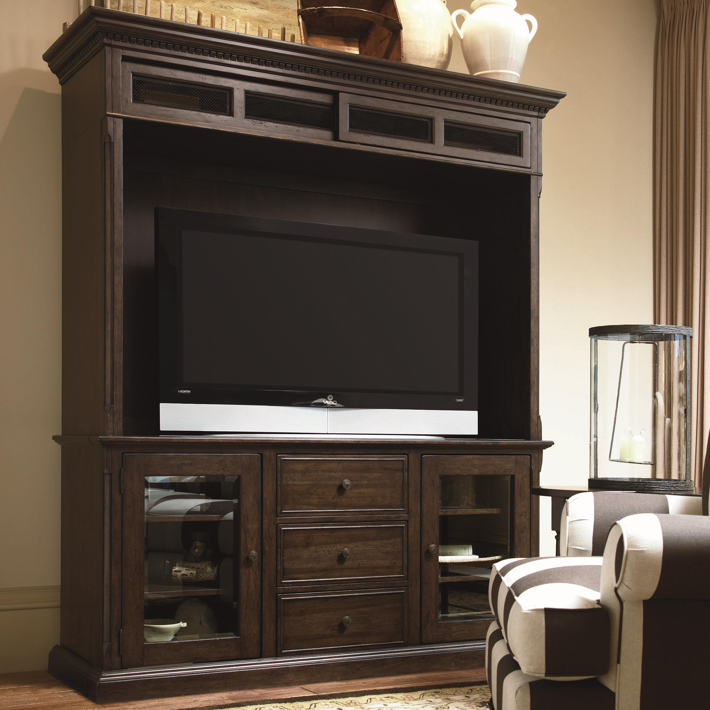 Paula Deen by Universal Down Home Entertainment Console and Bridge - Item Number: 193966+965