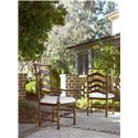 Universal River House Ladder Back Dining Side Chair - Shown with River House Arm Chair