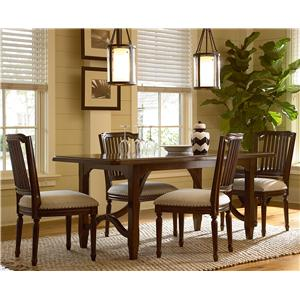 Morris Home Furnishings Riverside Casegoods / 5 Piece Dining Set with Kitchen Table