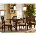 Morris Home Furnishings Riverside Casegoods / 5 Piece Dining Set with Kitchen Table - Item Number: 393652+4x36-RTA