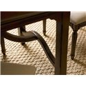 Universal River House Kitchen Table with Shapely Stretchers - Decorative Shaping Seen on Table Stretchers