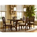 Universal River House Kitchen Table with Shapely Stretchers - Shown with Pull-Up Side Chairs