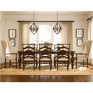 Paula Deen by Universal River House 9 Piece Dining Set with Host Chairs