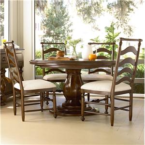 Morris Home Furnishings Riverside Casegoods / 5 Piece Dining Set