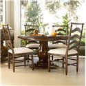 Morris Home Furnishings Riverside Casegoods / 5 Piece Dining Set with Round Table and River House Chairs
