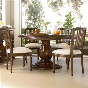 Paula Deen by Universal River House 5 Piece Dining Set with Pull-Up Side Chairs